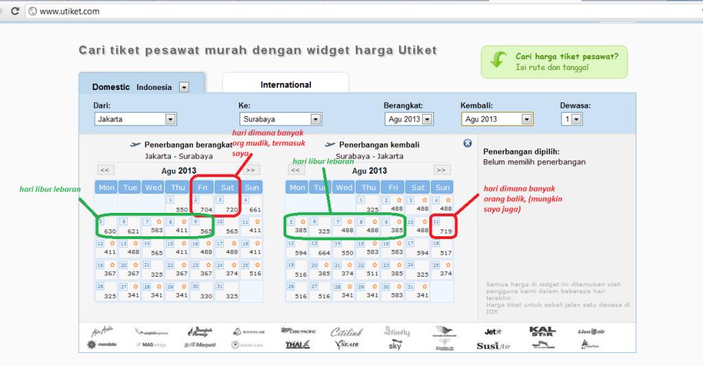 harga tiket pesawat per hari ini (berharap PROMO banget pakekk ngeettt