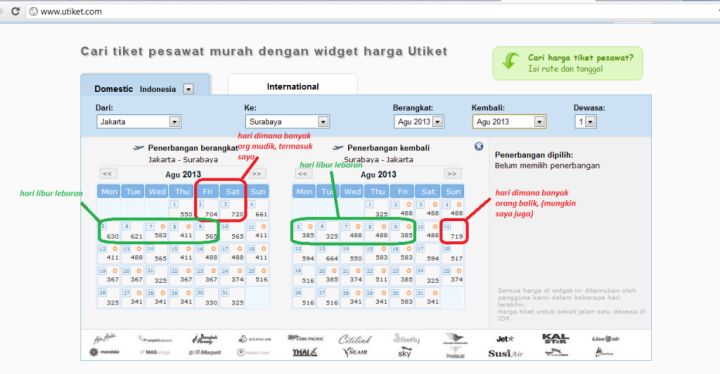 harga tiket pesawat per hari ini (berharap PROMO banget pakekk ngeettt)