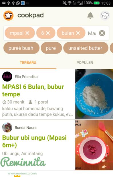 Cookpad : Aplikasi andalan saya untuk mencari inspirasi resep mpasi